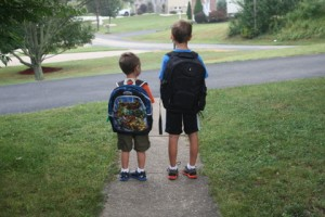 The Bono Boys ready for school!